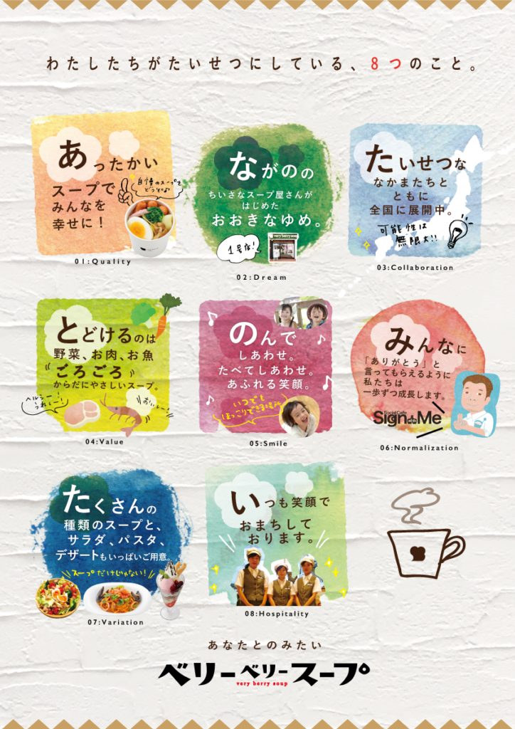 「憲章 × ベリーベリースープ」:デザインサンプル(コピーマック)