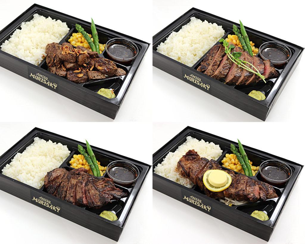 「写真撮影 × ステーキ弁当」:デザインサンプル(コピーマック)