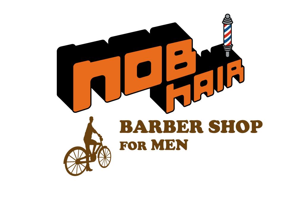 「ロゴデザイン×NOB hair」:デザインサンプル(コピーマック)