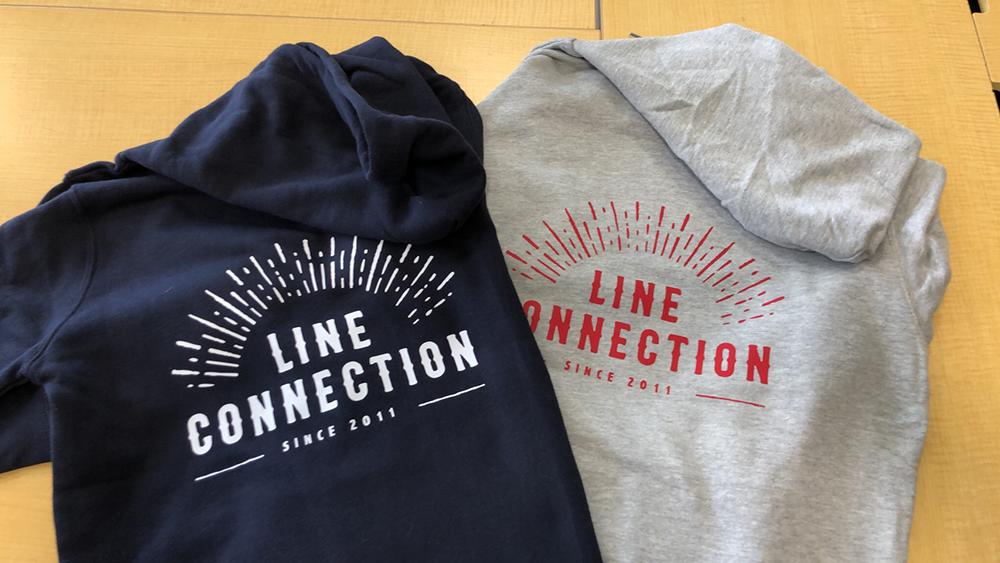 「パーカー×LINE CONNECTION」:デザインサンプル(コピーマック)