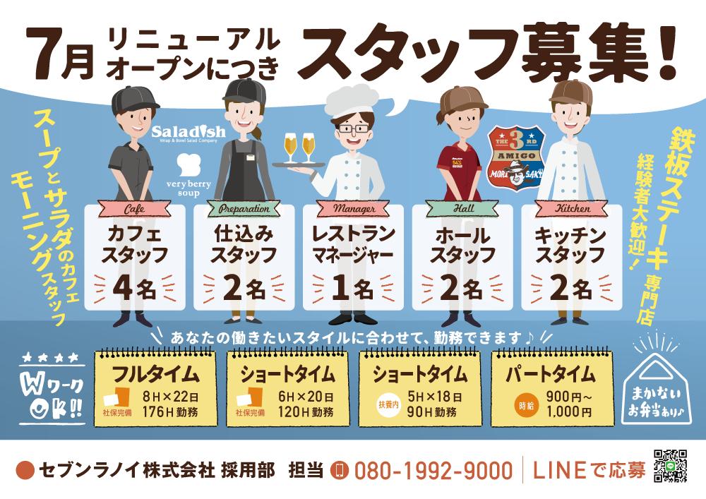 「チラシ×セブンラノイ株式会社」:デザインサンプル(コピーマック)