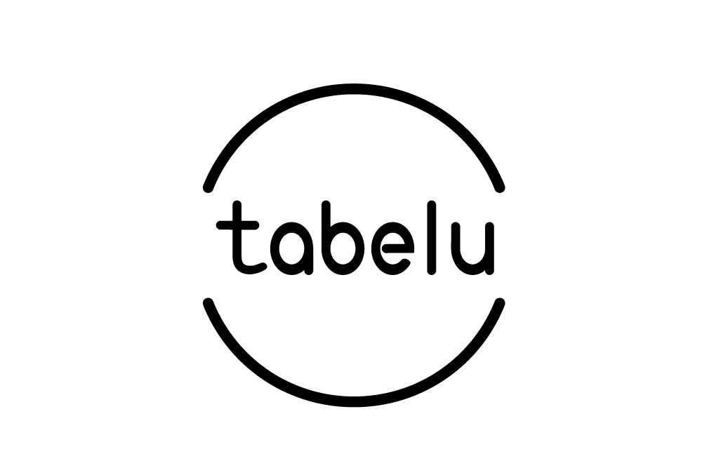 「ロゴ×tabelu」:デザインサンプル(コピーマック)